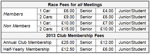 2013 Fees